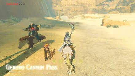 The Legend of Zelda Breath of the Wild (BotW) Gerudo Canyon Pass