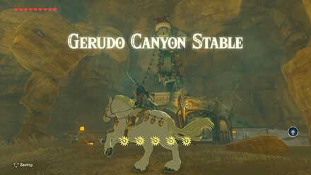 The Legend of Zelda Breath of the Wild (BotW) Gerudo Canyon Stable