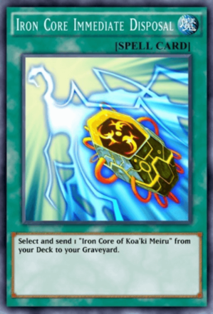 Iron Core Immediate Disposal