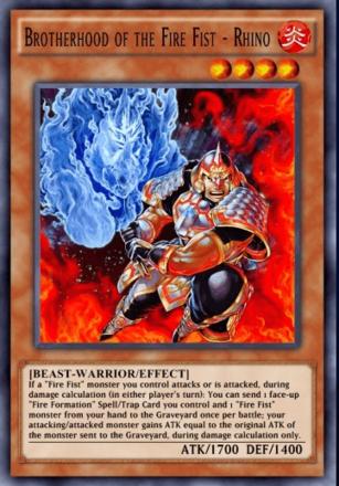Brotherhood of the Fire Fist - Rhino