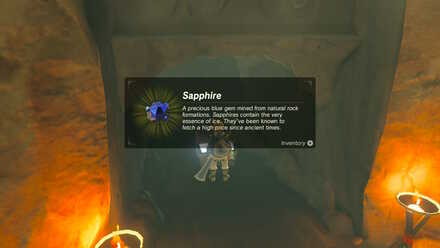 The Legend of Zelda Breath of the Wild (BotW) Sapphire in Treasure Chest