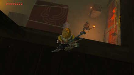 The Legend of Zelda Breath of the Wild (BotW) Jump down platform