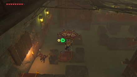 The Legend of Zelda Breath of the Wild (BotW) Gliding down in Yiga Hideout