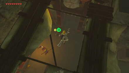 The Legend of Zelda Breath of the Wild (BotW) Jump down to the door