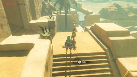 The Legend of Zelda Breath of the Wild (BotW) Return Thunder Helm to Riju