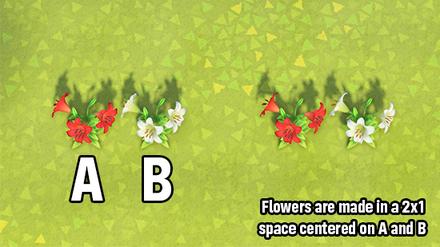 ACNH - 2x1 Flower Breeding Layout