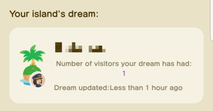ACNH - Dream Island Visitors on NookLink