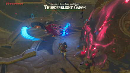 The Legend of Zelda Breath of the Wild (BotW) Thunderblight Ganon Dash and Slice.jp