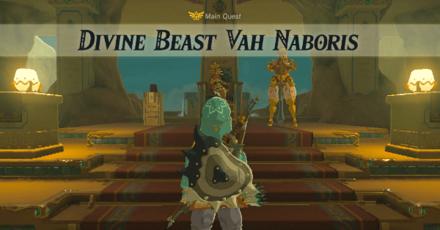 The Legend of Zelda Breath of the Wild (BotW) Divine Beast Vah Naboris Main Quest