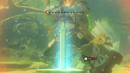The Legend of Zelda Breath of the Wild (BotW) Pulling the Master Sword.jpg