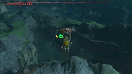 The Legend of Zelda Breath of the Wild (BotW) Gliding to Mount Lanayru.jpg