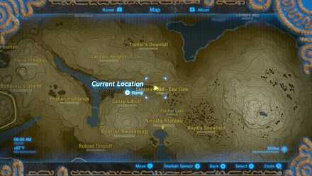 The Legend of Zelda Breath of the Wild (BotW) Photo 11 - Lanayru Road East Gate in Map.jpg