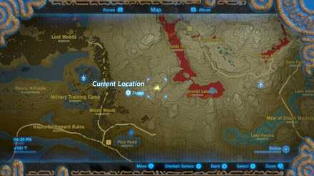The Legend of Zelda Breath of the Wild (BotW) Photo 5 - Eldin Canyon in Map.jpg