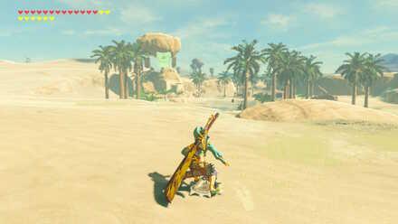 The Legend of Zelda Breath of the Wild (BotW) Shield surfing to Kara Kara Bazaar.jpg