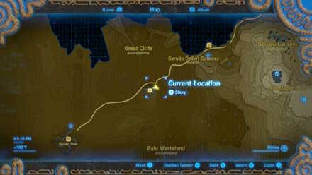 The Legend of Zelda Breath of the Wild (BotW) Photo 4 - Kara Kara Bazaar in map.jpg