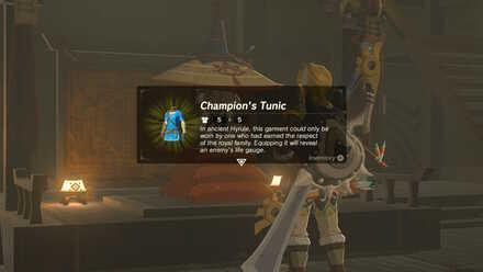 The Legend of Zelda Breath of the Wild (BotW) Receive Champion
