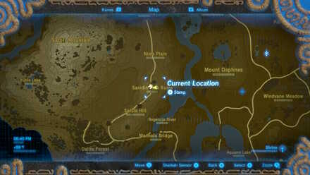 The Legend of Zelda Breath of the Wild (BotW) Photo 10 - Sanidin Park Ruins in map.jpg