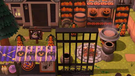 ACNH - Yuka - Pumpkin Shelves