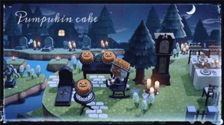 ACNH - Hakoirifuufu Hako Hako - Pumpkin Cake
