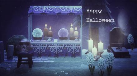 ACNH - Hakoirifuufu Hako - Halloween Spider Web Stall