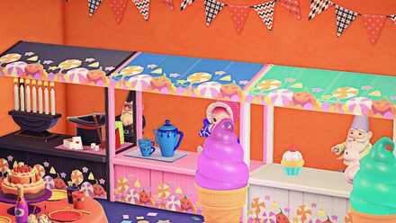 ACNH - Yuzu Hapi - Halloween Sweets Stall