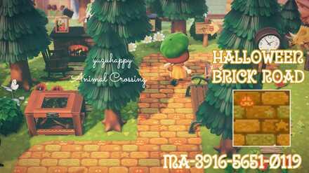 ACNH - Yuzu Hapi - Halloween Brick Road