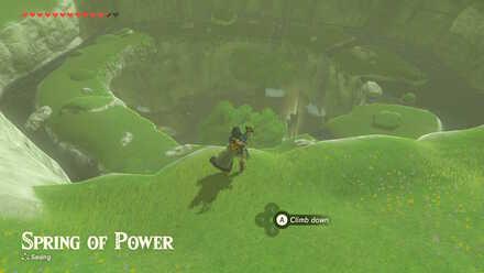 The Legend of Zelda Breath of the Wild (BotW) Spring of Power below.jpg