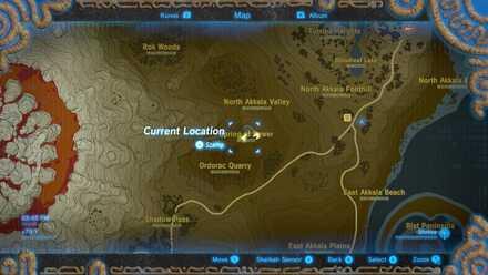 The Legend of Zelda Breath of the Wild (BotW) Photo 9 - Spring of Power in map.jpg