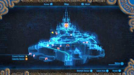 The Legend of Zelda Breath of the Wild (BotW) Photo 8 - Hyrule Castle in Castle map.jpg