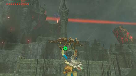 The Legend of Zelda Breath of the Wild (BotW) Gliding down to Hyrule Castle.jpg