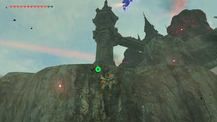 The Legend of Zelda Breath of the Wild (BotW) Climbing cliff to spire.jpg