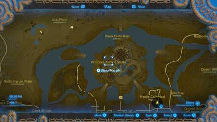 The Legend of Zelda Breath of the Wild (BotW) Photo 8 - Hyrule Castle in map.jpg