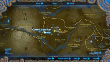 The Legend of Zelda Breath of the Wild (BotW) Photo 13 - Blatchery Plain in map.jpg