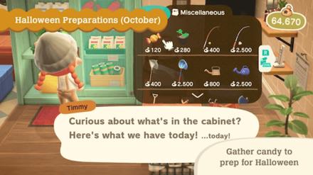 ACNH - Halloween Update - Buy Candy and Pumpkin Seeds
