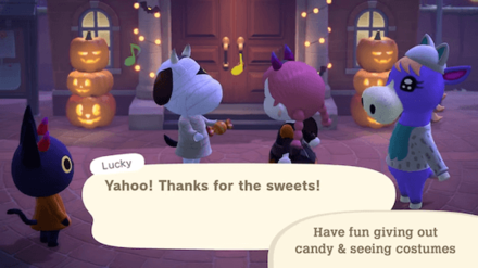 ACNH - Halloween Update - Give Candy Treats