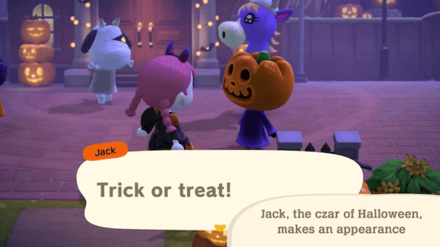 ACNH - Halloween Update - Jack Trick or Treat