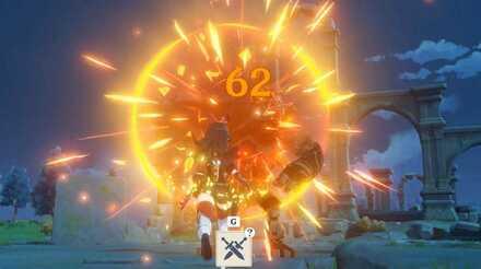 Amber Fighting Ruin Guard