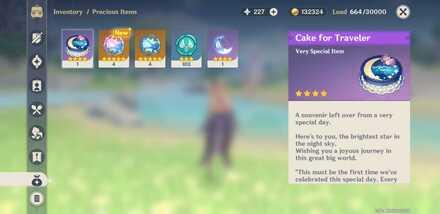 Genshin - Player Birthday Cake