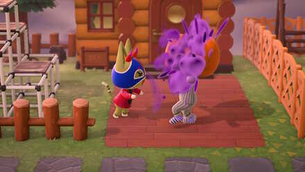 Animal Crossing New Horizons (ACNH) Villager playing tricks