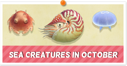 Animal Crossing New Horizons (ACNH) September Sea Creatures
