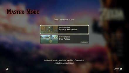 BOTW - Master Mode Save State