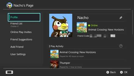 Switch Friend Code