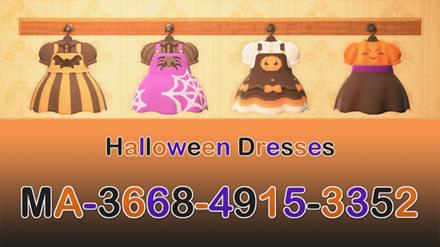 ACNH - Kuro - Halloween Dresses.png