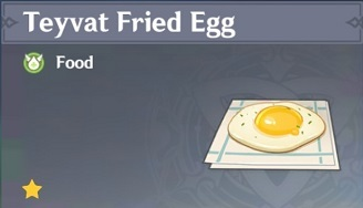 How to Get Teyvat Fried Egg and Effects
