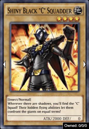"""Shiny Black """"C"""" Squadder"""