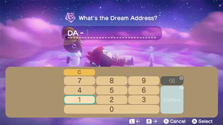 ACNH - Enter Dream Address