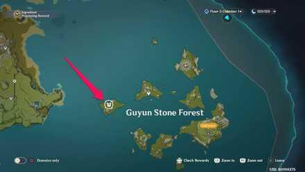 Guyun Stone Forest Agent Location.jpg