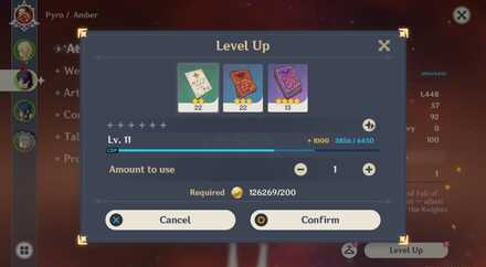 Level up using Wanderer