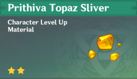 How to Get Prithiva Topaz Sliver and Effects
