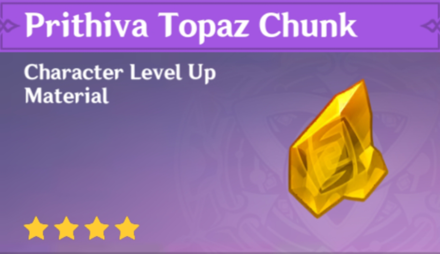 How to Get Prithiva Topaz Chunk and Effects